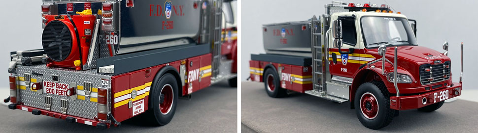 Closeup images 11-12 of FDNY Foam Tender 260 scale model