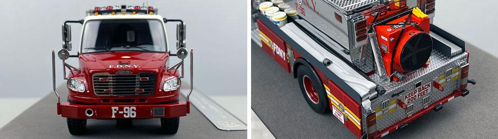 Closeup images 1-2 of FDNY Foam Tender 96 scale model