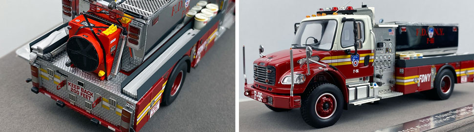 Closeup images 3-4 of FDNY Foam Tender 96 scale model