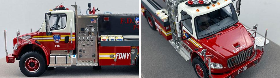 Closeup images 5-6 of FDNY Foam Tender 96 scale model