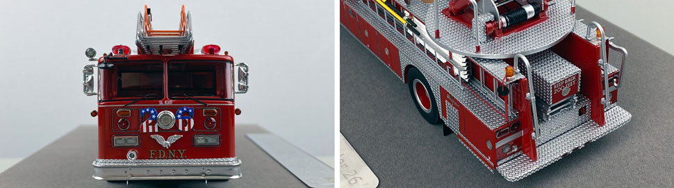Closeup pictures 1-2 of the FDNY's 1983 Ladder 26 scale model