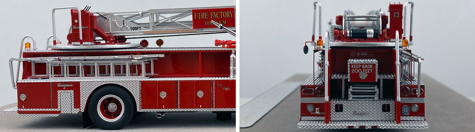 Closeup pictures 5-6 of the FDNY's 1983 Ladder 26 scale model