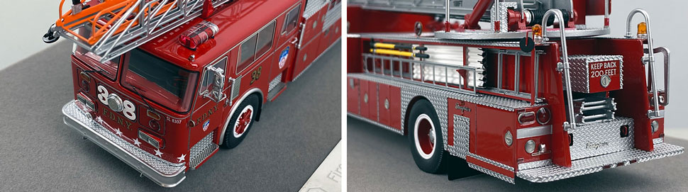 Closeup pictures 9-10 of the FDNY's 1983 Ladder 38 scale model