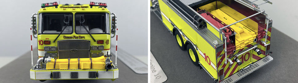 Close up images 7-8 of Chicago O'Hare Engine 10 scale model