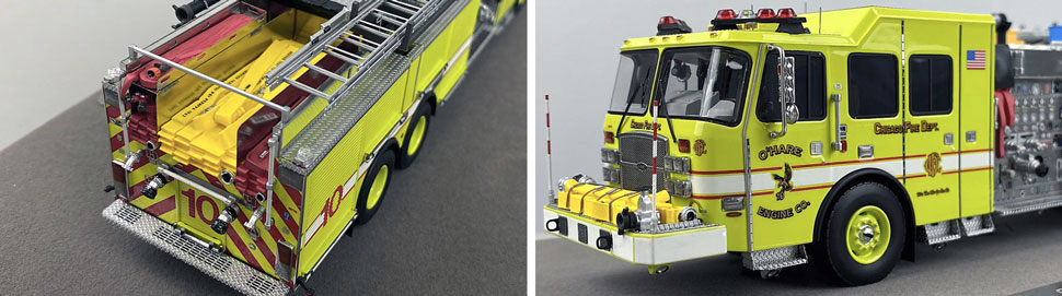 Close up images 1-2 of Chicago O'Hare Engine 10 scale model