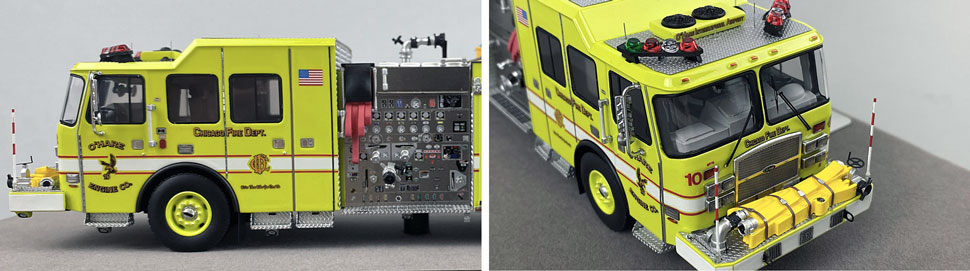 Close up images 9-10 of Chicago O'Hare Engine 10 scale model