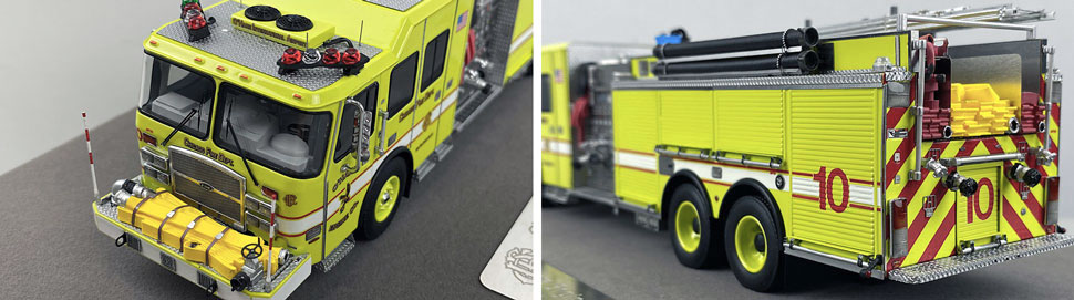 Close up images 3-4 of Chicago O'Hare Engine 10 scale model