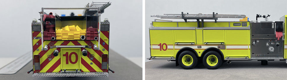 Close up images 11-12 of Chicago O'Hare Engine 10 scale model