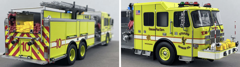 Close up images 5-6 of Chicago O'Hare Engine 10 scale model