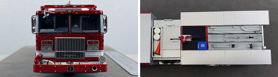 Closeup pics 13-14 of Seagrave Rescue Pumper scale model