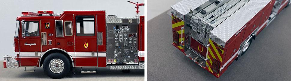 Closeup pics 11-12 of Seagrave Rescue Pumper scale model