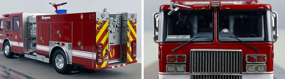 Closeup pics 3-4 of Seagrave Rescue Pumper scale model
