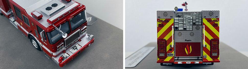 Closeup pics 9-10 of Seagrave Rescue Pumper scale model