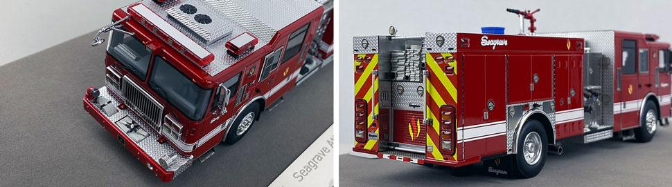 Closeup pics 5-6 of Seagrave Rescue Pumper scale model