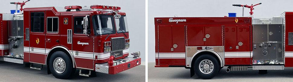 Closeup pics 7-8 of Seagrave Rescue Pumper scale model