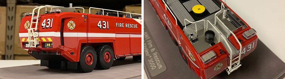 Close up images 7-8 of BWI Rescue 431 scale model