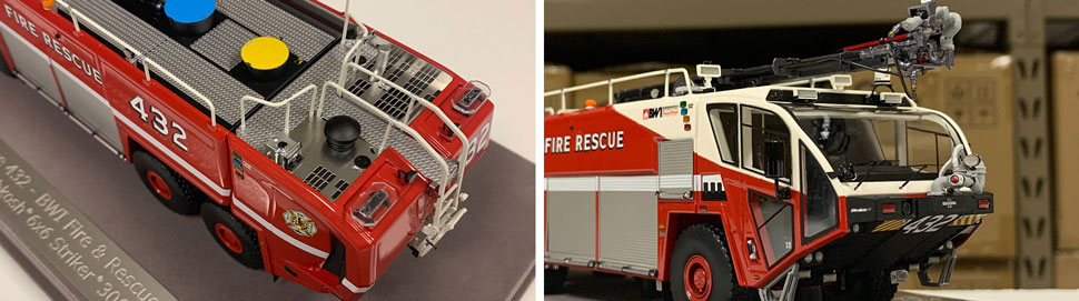 Close up images 9-10 of BWI Rescue 432 scale model