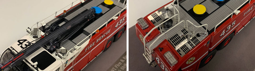 Close up images 9-10 of BWI Rescue 435 scale model