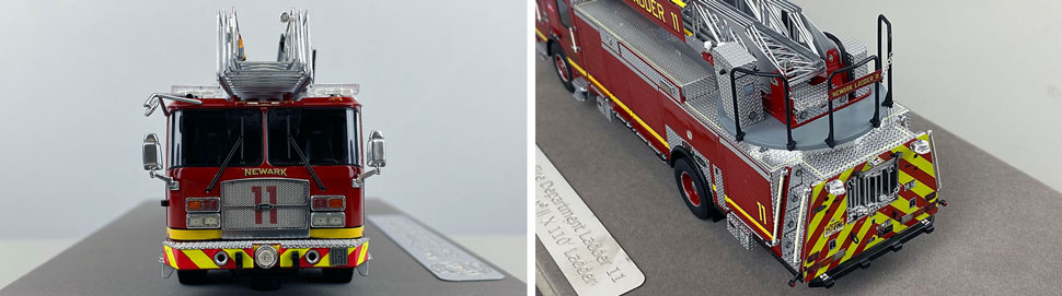 Closeup pics 13-14 of Newark Fire Department Ladder 11 scale model