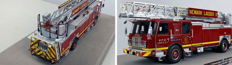 Closeup pics 11-12 of Newark Fire Department Ladder 11 scale model