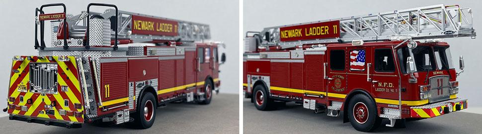 Closeup pics 1-2 of Newark Fire Department Ladder 11 scale model