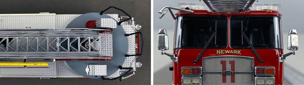 Closeup pics 7-8 of Newark Fire Department Ladder 11 scale model