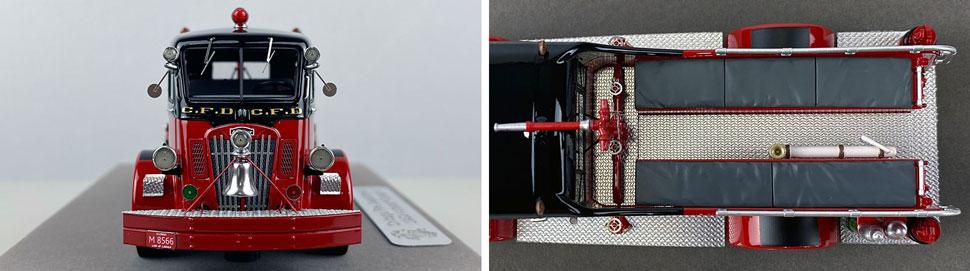 Closeup pics 13-14 of Chicago Fire Department 1952 Autocar Squad 2 scale model