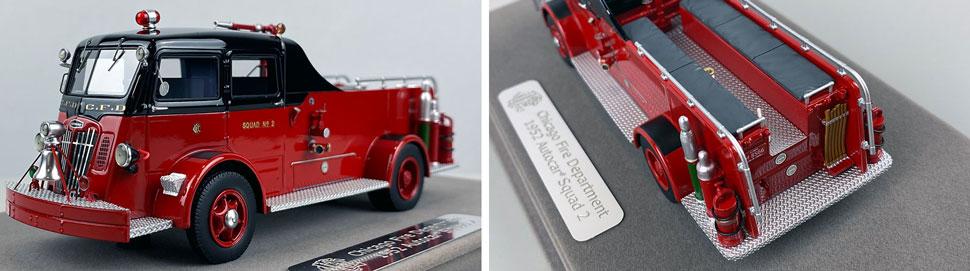 Closeup pics 11-12 of Chicago Fire Department 1952 Autocar Squad 2 scale model