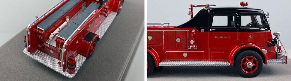Closeup pics 1-2 of Chicago Fire Department 1952 Autocar Squad 2 scale model
