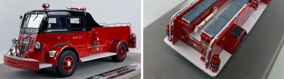 Closeup pics 9-10 of Chicago Fire Department 1952 Autocar Squad 6 scale model