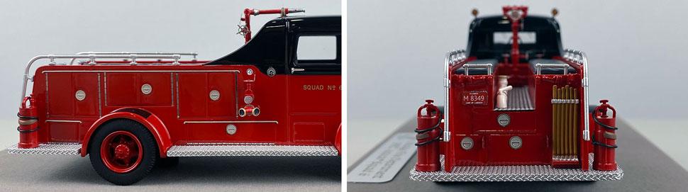 Closeup pics 3-4 of Chicago Fire Department 1952 Autocar Squad 6 scale model