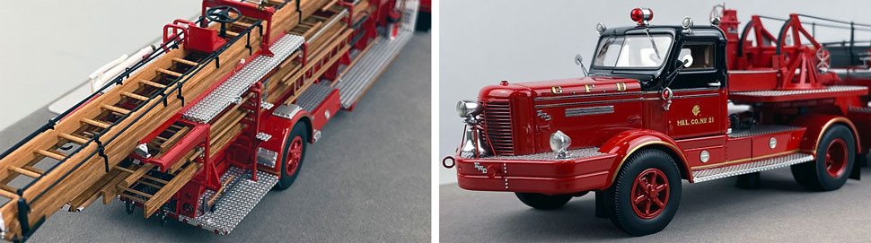 Close up pics 1-2 of Chicago's FWD 85' Aerial scale model