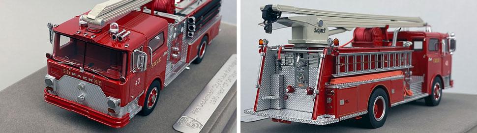 Closeup images 11-12 of FDNY 1970 Mack CF Squrt Engine 43 scale model