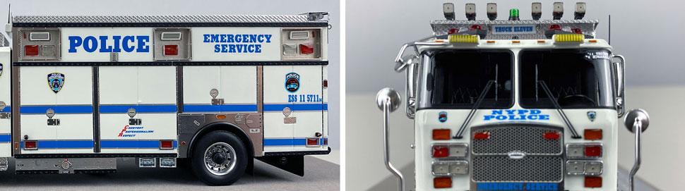 Close pics 5-6 of NYPD E-One Cyclone II ESS 11 scale model
