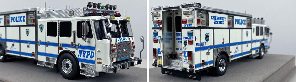 Close pics 11-12 of NYPD E-One Cyclone II ESS 11 scale model
