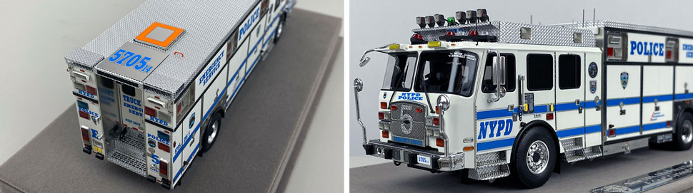Close up pics 3-4 of NYPD E-One Cyclone II ESS 5 scale model