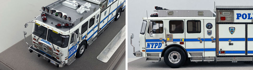 Close up pics 5-6 of NYPD E-One Cyclone II ESS 5 scale model