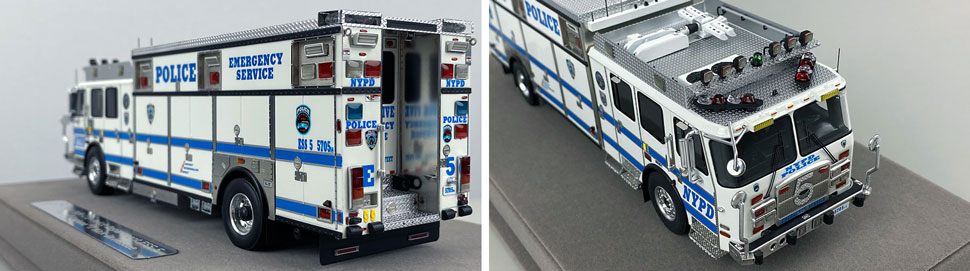Close up pics 7-8 of NYPD E-One Cyclone II ESS 5 scale model