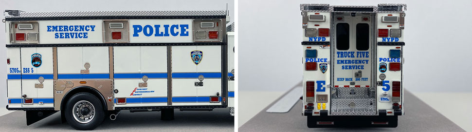 Close up pics 9-10 of NYPD E-One Cyclone II ESS 5 scale model