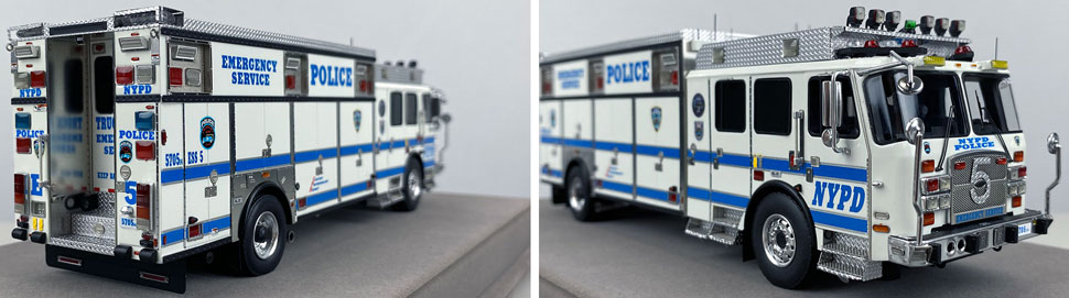 Close up pics 11-12 of NYPD E-One Cyclone II ESS 5 scale model