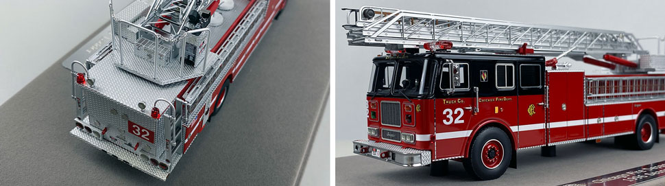 Closeup pics 5-6 of Chicago Fire Department Seagrave Truck 32 scale model