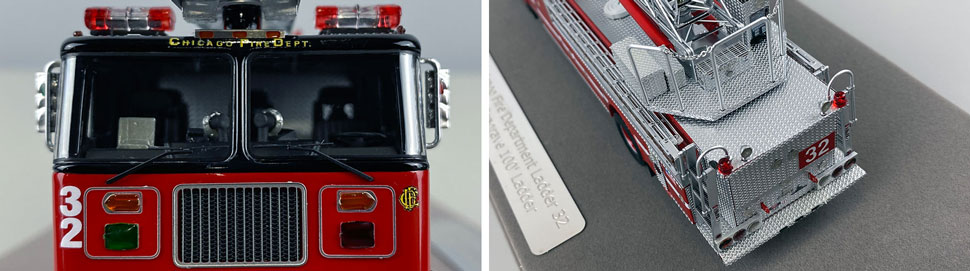 Closeup pics 13-14 of Chicago Fire Department Seagrave Truck 32 scale model