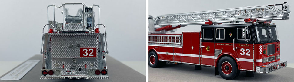 Closeup pics 7-8 of Chicago Fire Department Seagrave Truck 32 scale model
