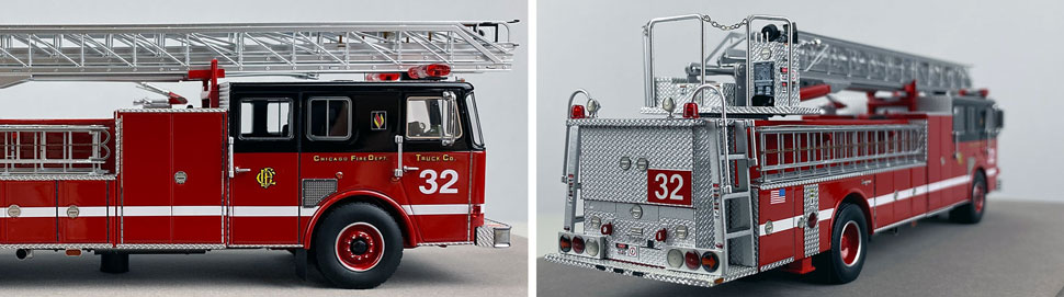 Closeup pics 1-2 of Chicago Fire Department Seagrave Truck 32 scale model