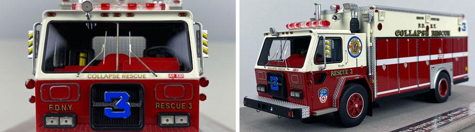 Closeup pics 7-8 of FDNY ALF/Saulsbury Collapse Rescue 3 scale model