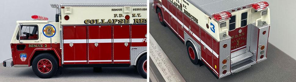 Closeup pics 9-10 of FDNY ALF/Saulsbury Collapse Rescue 3 scale model