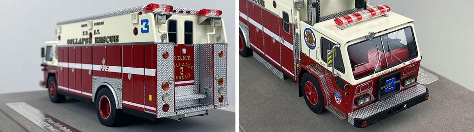 Closeup pics 11-12 of FDNY ALF/Saulsbury Collapse Rescue 3 scale model