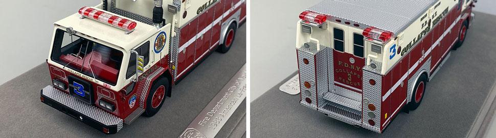 Closeup pics 13-14 of FDNY ALF/Saulsbury Collapse Rescue 3 scale model