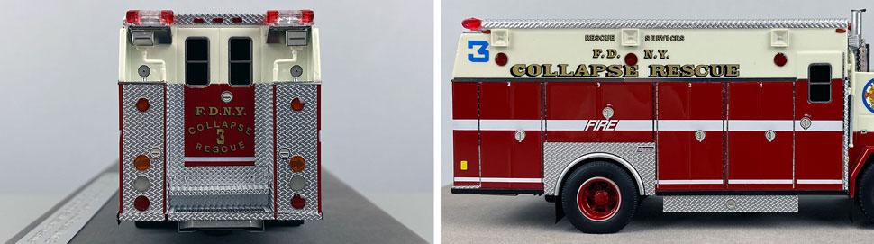 Closeup pics 5-6 of FDNY ALF/Saulsbury Collapse Rescue 3 scale model
