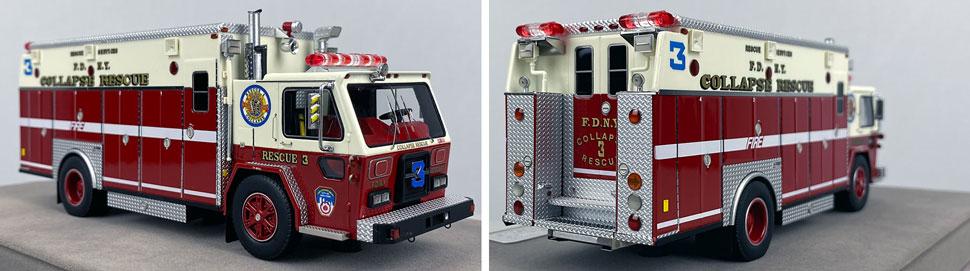 Closeup pics 1-2 of FDNY ALF/Saulsbury Collapse Rescue 3 scale model